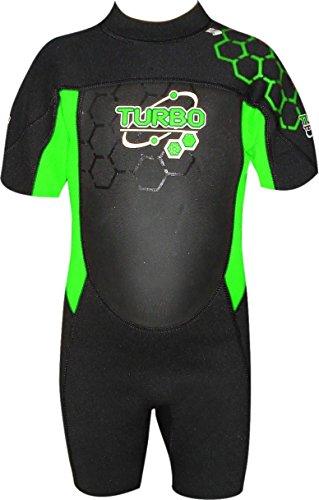 Turbo Kid 's corto para mujer, unisex-kids, color Negro - verde, tamaño 3 - 4 años