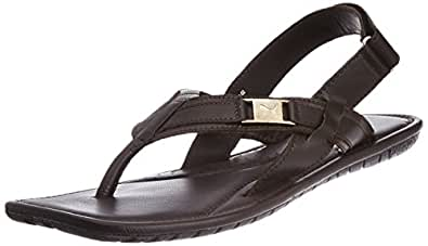 Puma Men's Black Leather Athletic & Outdoor Sandals (30483102) - 9UK/India (43EU)