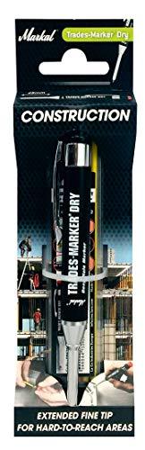 Markal Trades-Marker Dry Starter Set, enthält: 1Stift + 1Set Patronen, Graphit/Rot/Gelb, 96264