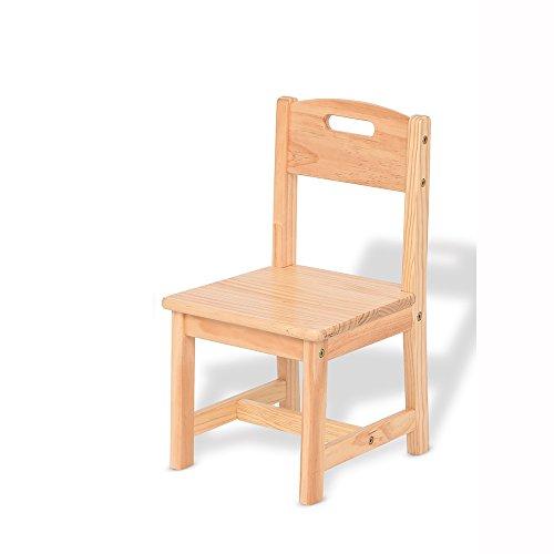 QFFL Chaise Chaise en Bois Massif Jardin d'enfants Chaise d'apprentissage 2 Couleurs Disponibles 300 * 280mm Tabouret d'extérieur (Couleur : A)