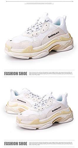 BAELNGIACA Triple S Sneakers Cream White Unisex Herren Damen Laufschuhe Turnschuhe Luxusmarkenqualität(Size 42)
