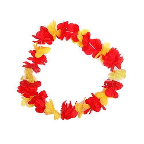 Etopfashion World cup hawaiian Flowers lei Garlands Hawaii Party Dress Necklace