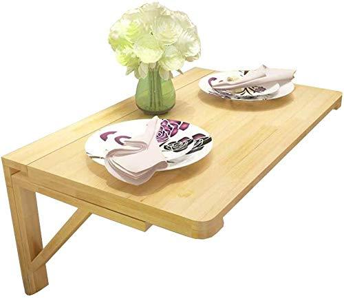 GBX Faltbare Wand- tragbare Falten Laptop-Schreibtisch Tisch, Klapptisch, Raum-Retter-Computer-Schreibtisch, Naturholz Esstisch Schreibtisch, Faltwand Schreibtisch,70x50cm