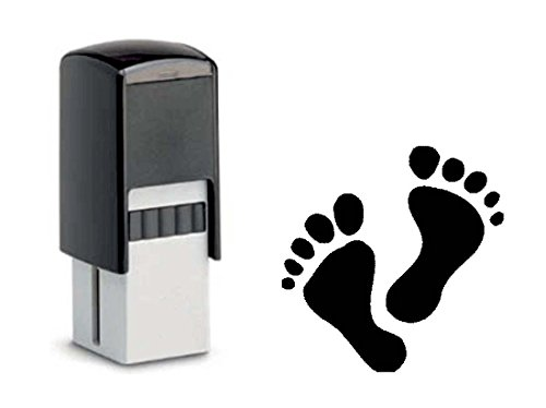 BONUSKARTENSTEMPEL « FÜSSE » Stempel mit Motiv 10x10 mm - Bonuskarte Verkauf Bonus Podologie SPA Wellness Füße Fußpflege