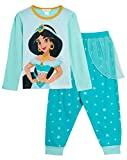 Disney Princess Jasmine - Pigiama per Bambine, Lunghezza Intera Jasmine 9-10 Anni