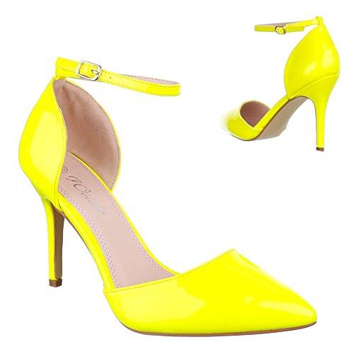 Ital-Design - Scarpe con plateau Donna Giallo (giallo)