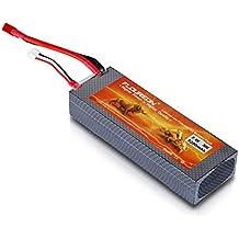 FLOUREON RC Akku 2S 7.4V 5200mAh 30C Lipo Batterie mit T Stecker für RC Auto, RC Flugzeug, RC Hubschrauber, RC Hobby