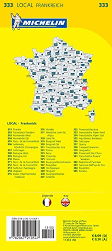 Michelin Französische Alpen Nord: Straßen- und Tourismuskarte 1:150.000 (MICHELIN Localkarten) - 2