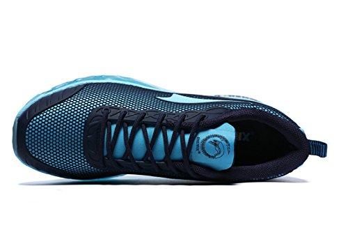 Onemix Herren Air Luftkissen Turnschuhe Laufschuhe Sportschuhe mit Luftpolster Leichte Schuhe Blau