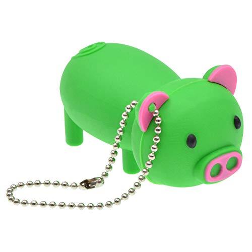 FbscTech USB-Speicherstick in Schweine-Form (USB 2.0) grün 64 GB