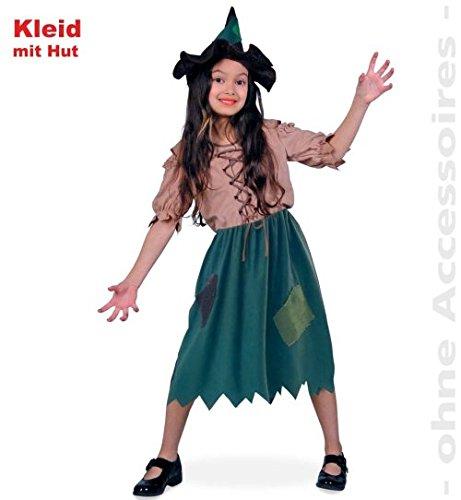 Halloween Hexe Waldhexlein inkl. Hut Mädchen Kostüm Gr (Kostüme Hexe Mädchen Twilight)