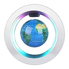 Idea Regalo - Globo magnetico della levitazione Globo di Rotazione del mappa del Mondo con Luci LED Globo galleggiante di levitazione magnetica per decoraciòn in ufficio e casa per i Bambini regalo 4 pollici blu