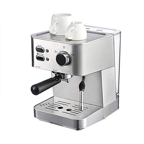 YYXXZZ Cafeteras combinadas espresso/goteo Máquina de café del café Express del hogar del Acero Inoxidable de la máquina del café de la presión 15Bar