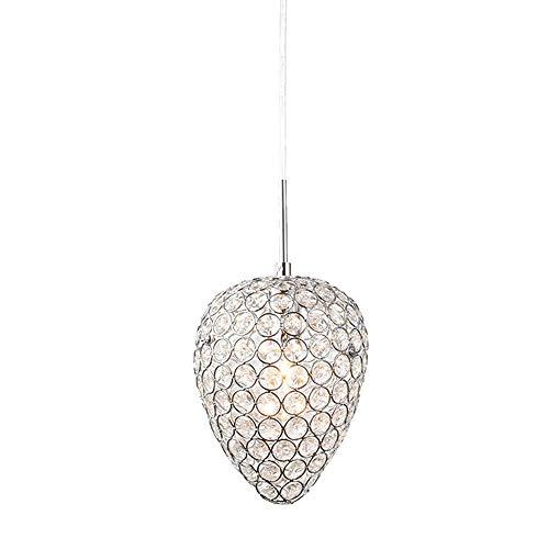 YB Restaurant Kristallleuchter Moderne Kreative Led Deckenleuchte Wohnzimmer Schlafzimmer Gehweg Cafe E14 Pendent Licht 1 Flamme Chrome -