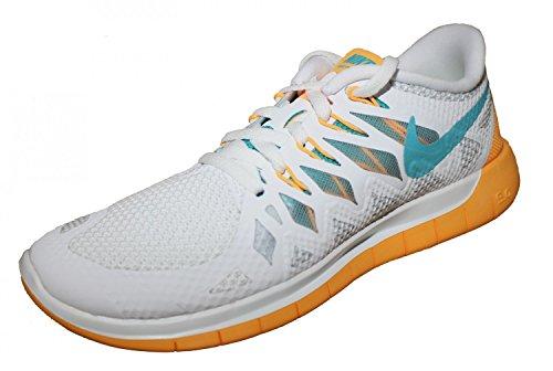 Nike Free 5.0, Damen Laufschuhe Weiß/Orange