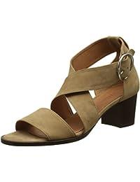 Womens Abigail Lucite Open Toe Sandals, Beige (Nubuck Tan), 8 UK Emma Go