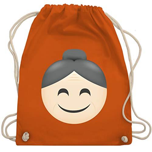 Comic Shirts - Oma Emoji - Unisize - Orange - WM110 - Turnbeutel & Gym Bag (Comic Zeichnung Kostüm)
