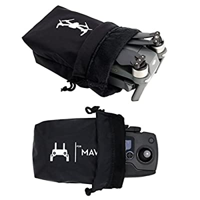 Rantow Mavic Pro Waterproof Bag Combo, Storage Drone Body Bag + Remote Controller Carrying Cloth Sleeve for DJI Mavic Pro Black