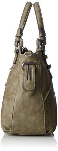 Tamaris - Jutta Handbag, Borse a secchiello Donna Verde (Khaki)
