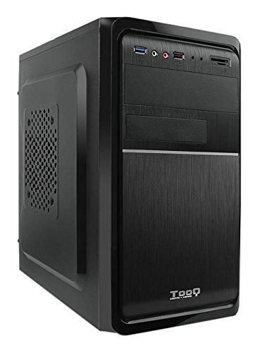 TooQ TQC-4735U3C-B - Caja de Ordenador (microATX,con Fuente de 500 W, USB 3.0, Lector de Tarjetas Frontal) Color Negro
