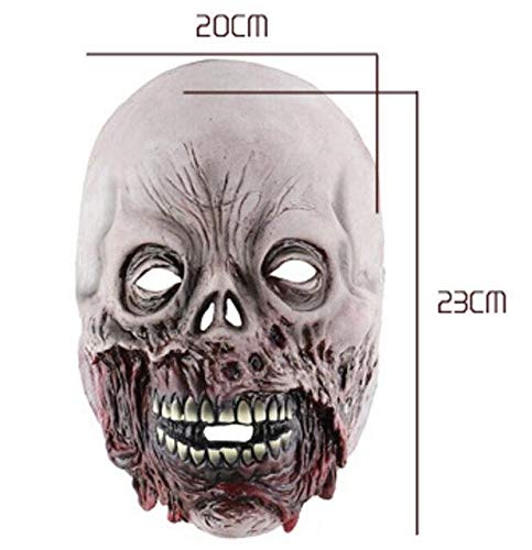Halloween Horror Rotten Zombie Face Skull Mask Scary Haunted House Escape Latex Masks Scary Skull Mask Full Head Halloween Masks,as The Picture