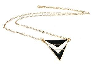 Collier Triangle Noir Blanc