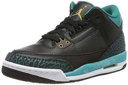 Jordan Unisex-Kinder 3 Retro GG 441140-018 Sneaker, Mehrfarbig (Black 001), 40 EU