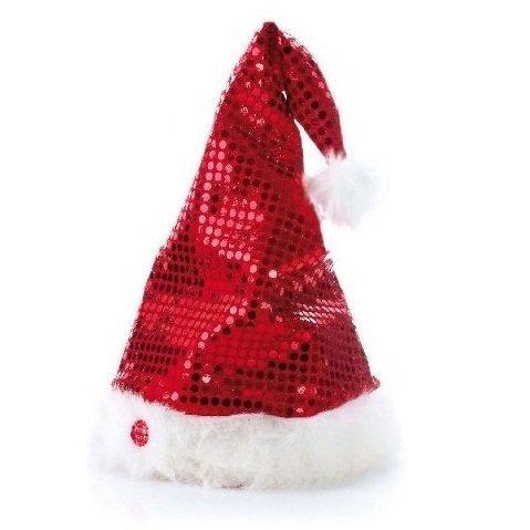 Tib 42622 - cappello da babbo natale con effetti sonori