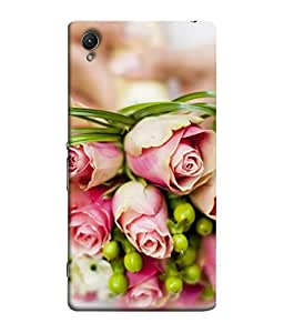 Snapdilla Designer Back Case Cover for Sony Xperia C6 Ultra Dual (Beauty Petal Gift Bunch Bright Green Stem Backcover)