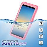 Wendapai wasserdicht Telefon Hülle Heavy-Duty Tragetasche Fully Sealed Watertightness Hülle zum Samsung Galaxy Note 9 Waterproof,-Pink