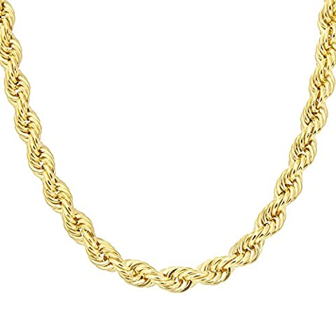 Citerna Thick Rope 9 ct Yellow Gold Chain Necklace of 18 inch/46 cm Length