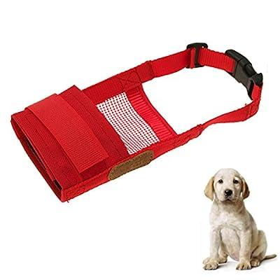 Adjustable Soft Pet Dog Training No Bark Bite Chew Muzzle Mask by Gosear