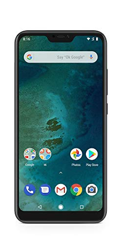 Xiaomi Mi A2 Lite - (Dual SIM) 32GB 5.84-Inch Android 8.1 UK Version SIM-Free Smartphone - Black (Official UK Launch)