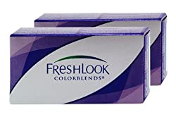 Freshlook Colourblends Zero Power (Plano) Contact Lens - Brown Monthly