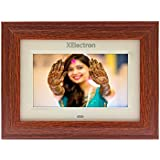 XElectron® DPF702W 7 inch LED Wooden Digital Photo Frame/Video Frame with 1280×720, 720P Support Resolution, Plays Images, Video & Music, USB/SD Card Slot, with Remote (Wooden)