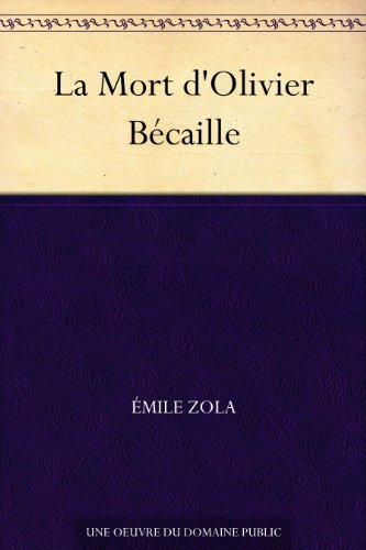 Couverture du livre La Mort d'Olivier Bécaille