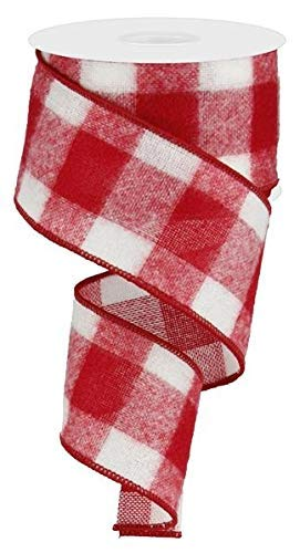 3 cm breit x 10 m, rotes weißes Büffelband - Fuzzy Flanell: Holzfäller Party Supplies ()