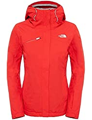 The North Face W DESCENDIT JACKET - Chaqueta para mujer, color rojo, talla XS