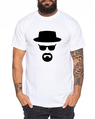Heisenberg maglietta da uomo hermanos bad mr white breaking, farbe2:weiß;größe2:s