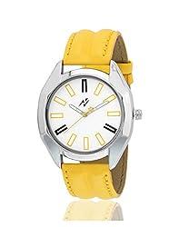 Yepme Tred Men's Watch - White/Yellow -- YPMWATCH1987