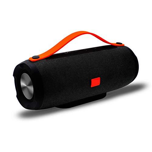 YSCYLY Drahtlose Bluetooth Lautsprecher Musik Spalte Tragbare Bass TF FM Radio Subwoofer 10 Watt Große Power MP3 Player Sound Box PC Telefon Boombox,Black Black Box Radio