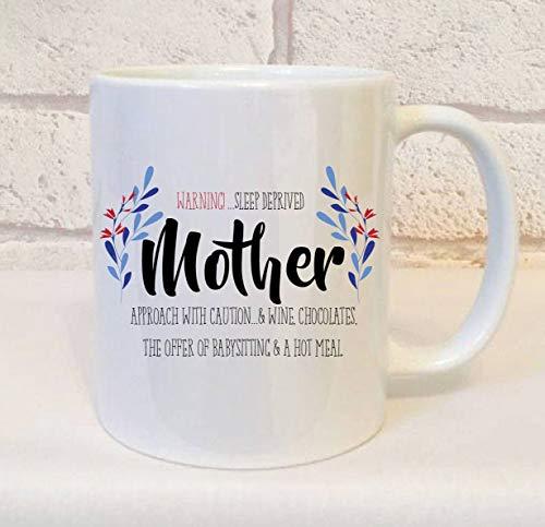 Betsy34Sophia Neue Mama Geschenk lustige Neue Mama Mama Becher Schlafentzug M¨¹tter Kaffee Becher Geschenk M¨¹tter Tee Becher M¨¹tter Tag Mutter Geschenk Geschenke von den Kindern