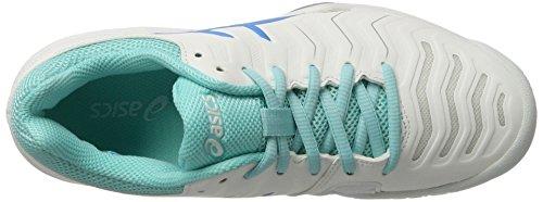 Asics Damen Gel-Challenger 11 Tennisschuhe Weiß (White/diva Blue/aqua Splash)
