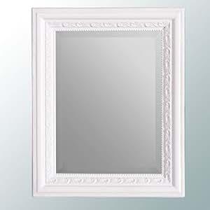 wandspiegel barock 50x40cm spiegel pur wei argento. Black Bedroom Furniture Sets. Home Design Ideas