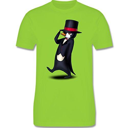 Sonstige Tiere - Pinguin in Frack - Herren Premium T-Shirt Hellgrün