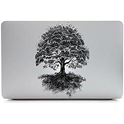 Sticker Macbook, Stillshine New Fashion Creative Art Vinyl Decal Autocollant Noir pour Apple MacBook Pro / Air 13 Pouces pour Ordinateur (Arbre)