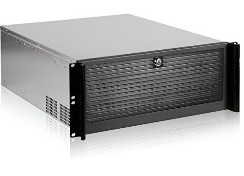 """RackMax RM-1940 19"""" Server Gehäuse 4U (für EATX, ATX, Micro-ATX, 2x 3,5"""" + 6x 5,25"""" Laufwerke, 7x Low Profile Karten) mit 2x Front-USB 2.0 (schwarz)"""