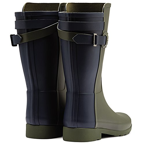 Damen Hunter Original Refined Back Strap Short Wasserdicht Gummistiefel EU 36-43 Dunkeloliv/Marine