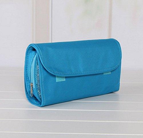 COMVIP Wasserdichte Multifunktional Kulturbeutel Reisetasche Aufbewahrungstasche Taschen Make-up-Pinsel Organizer Blau Blau