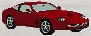 Rouge Ferrari Kit de broderie au point de croix